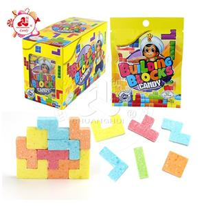 Halal diy fruit flavour Building Tetris blocks press candy for kids