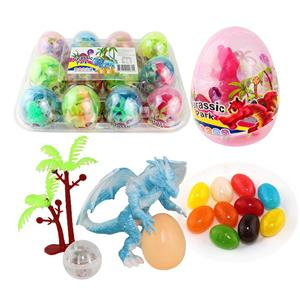 Jurassic Park dinosaur toy Egg / LED Light resin toy with jelly bean