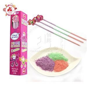Без сахара Конфета Солома / Длинный Фруктовый 3 вкуса Кислый порошок