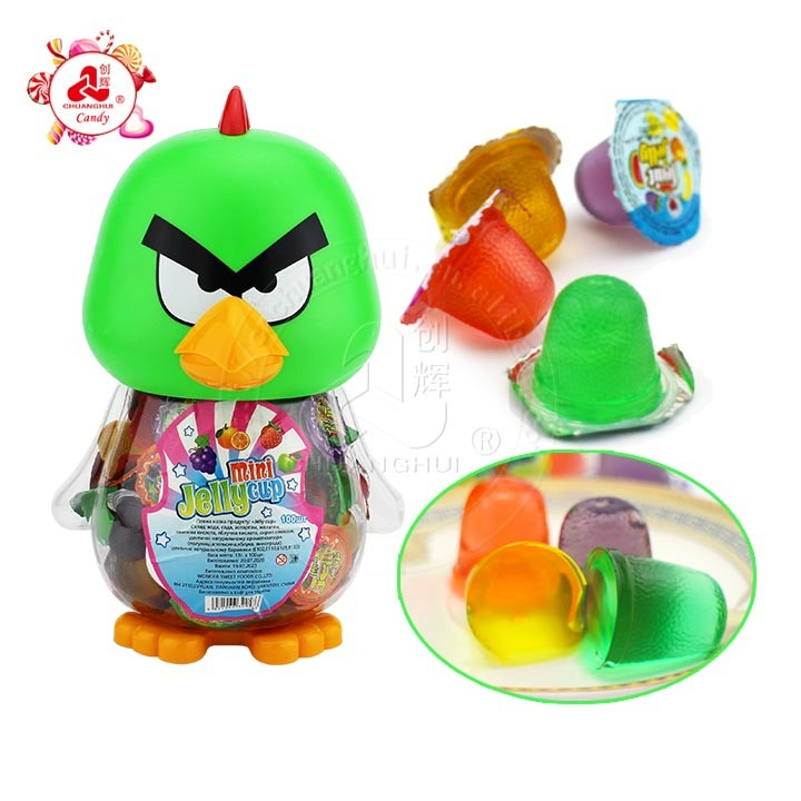 Мультфильм птица Баночка Желейные конфеты в птичьей банке