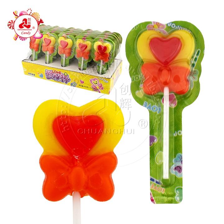 Belle sucette Halal Love sucette en forme de coeur dans un emballage de tablette