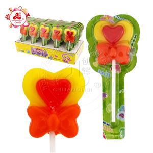 Halal lovely lollipop Love heart shape lollipop in tablet packing