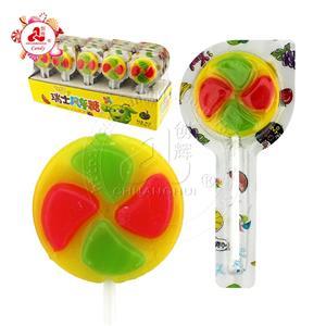 Halal lollipop Colorful windmill lollipop in tablet packing