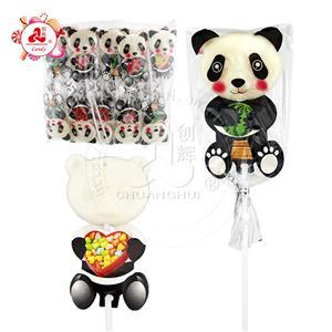 Halal lollipop milk flavored Cartoon panda shape lollipop
