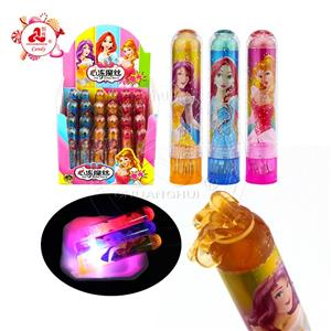 High quality LED Lighting fruity Crazy hair lipstick Jam candy