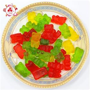 High Quality Loose Packing Colorful Bear Shape Rubber / halal giant gummy bear