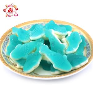 Bulk Rubber Candy, Dolphin Shape Gummy Candy in Loose Packing