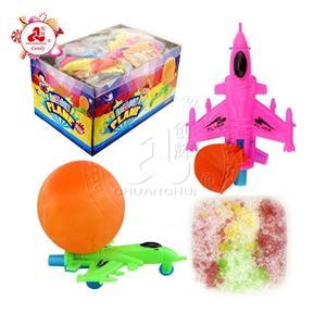 Balloon Air Power Launch Plastic Toys Balloon plane toy candy in box
