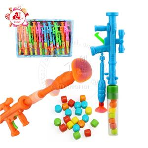 Fun Catapult sucker toy rocket artillery toy candy