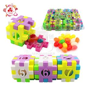 Funny Building Block Toy And jelly bean Candy