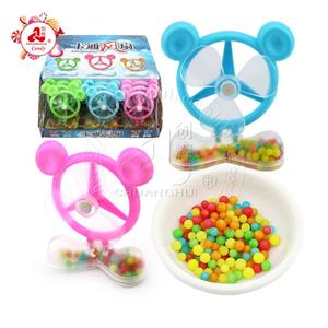 Halal mickey vertical fan toy with colorful pearl candy