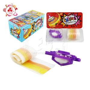 Whistle gyro with fruity gummy roll candy soft candy toys in the boxes