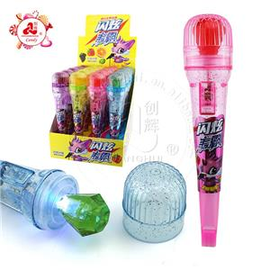 Lighting Microphone shaped Toy with Diamond Scintillating Candy toy