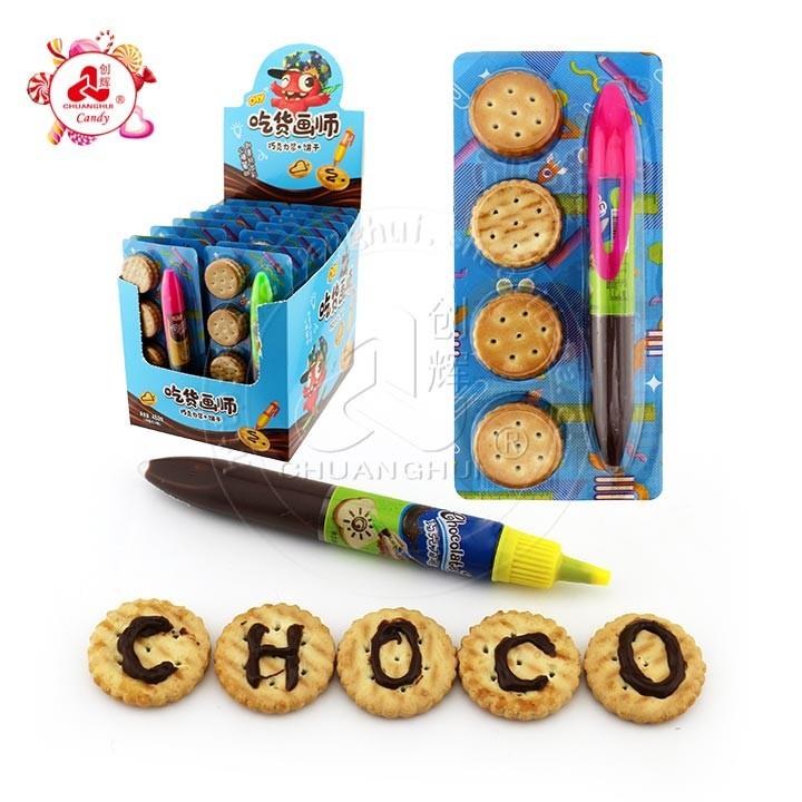 Stylo à pâte de chocolat DIY La sauce au chocolat Squeeze on Biscuits création pour les enfants