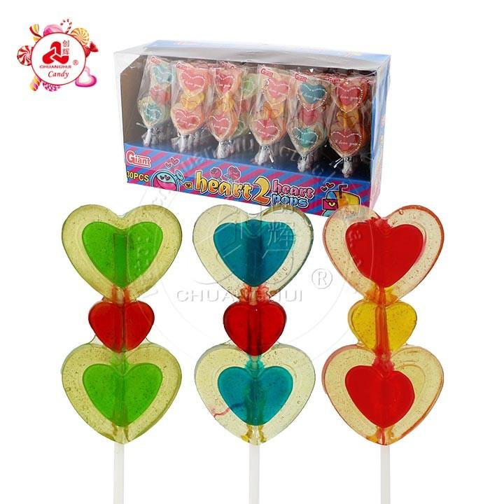 От сердца к сердцу хлопки / разноцветный фруктовый леденец на день святого Валентина