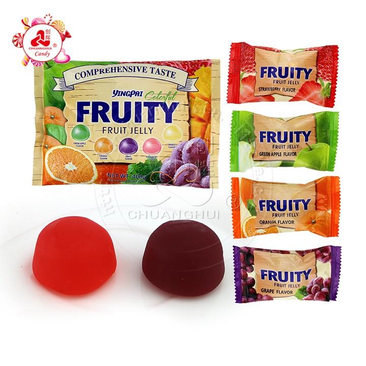 Ассорти фруктовых вкусов Мягкие конфеты Fruity Gel Желейные конфеты в фольгированном пакете