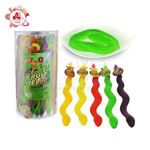 Упаковка в баночку Желейные конфеты в форме змеи для детей