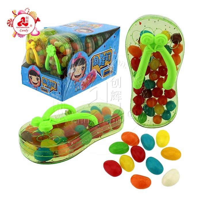 Вкусные тапочки с мармеладом и игрушечные конфеты в форме шлепанцев