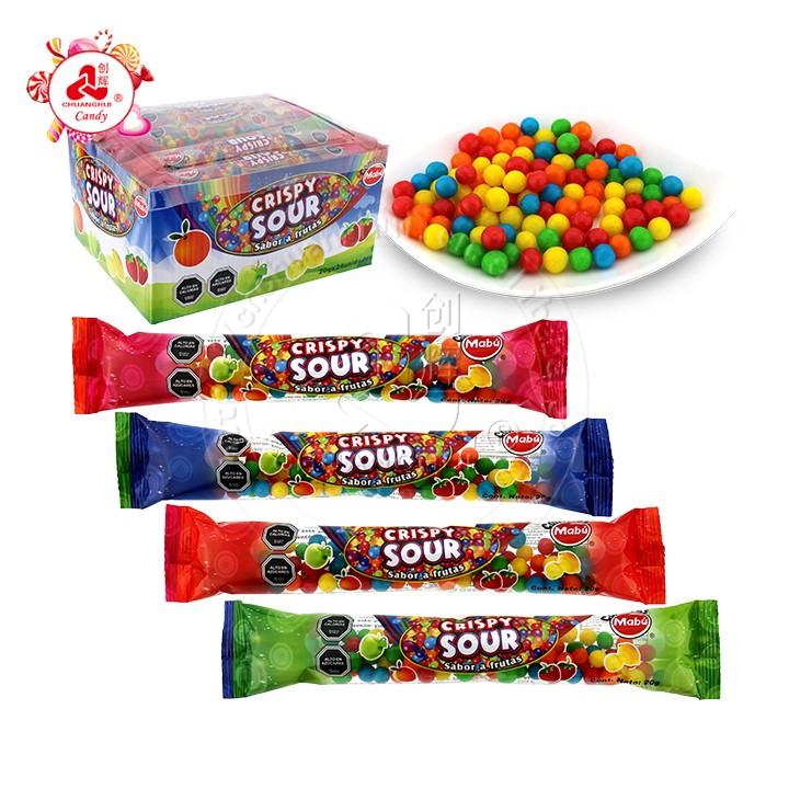 Разноцветные фруктовые сладкие кисло-хрустящие пышные мягкие конфеты