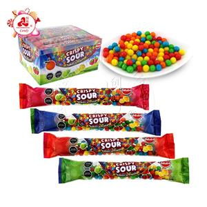 Colorful Fruity Flavor Sour Crispy Candy Puffed Soft Candy