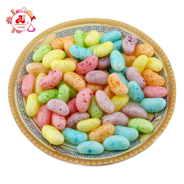 Bulk high quality Colored fruit gummy Salad Jelly Bean/Colored dots jelly beans