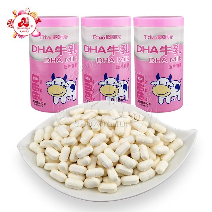 Snack Health Foods DHA lait comprimé colostrum presse à croquer bonbons 400g en conserve