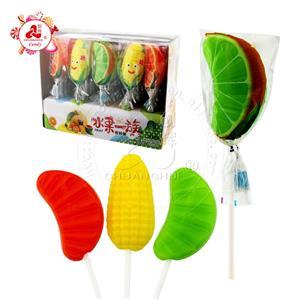 Halal Sweets Апельсин, твердый леденец в форме кукурузы Фруктовый леденец на палочке