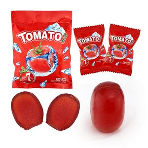 High quality mint Tomato soft gel candy tomato flavor gel jelly candy