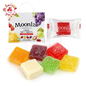 cube shaped Assorted fruit flavors soft sweets Fruit soft chew candy