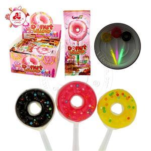 халяльные конфеты Неоновый пончик Леденец на палочке Candy Light Stick Lollipop