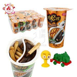 Finger Biscuits Choco Cup с маленькими игрушками Сладкое шоколадное печенье Игрушка Чашка