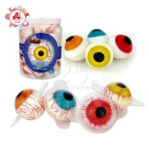 Хэллоуин конфеты фруктовый вкус большие глаза мяч мармеладные конфеты в банке