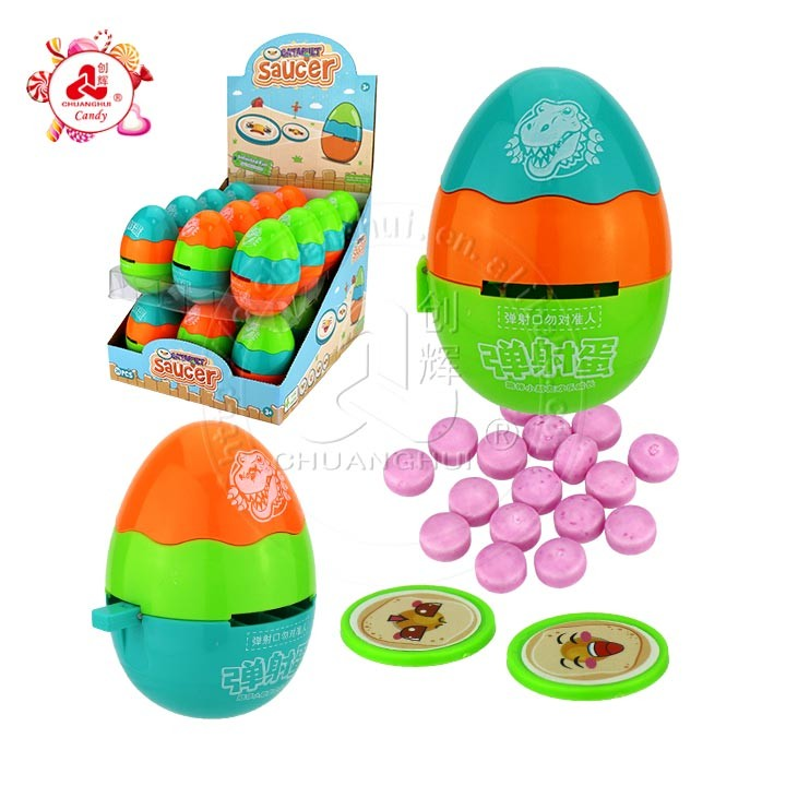 Catapult Saucer Egg Toy candy shooting Toy egg cartoon dinosaur