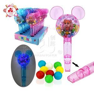 Освещение Микки прозрачная пластиковая палочка и игрушка-свисток конфета