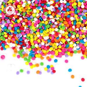 Украшение для торта, прессованные таблетки, конфеты, съедобные, небольшой сахар круглой формы, материалы для выпечки, посыпка для торта