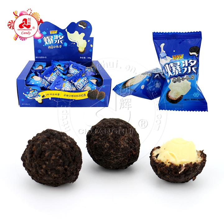 308g Crisp Oreo surface coating & milk cream filling biscuit chocolate ball
