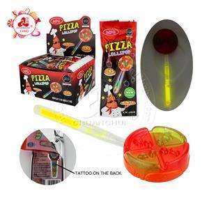 2021 татуировка сумка для часов в форме пиццы светящийся леденец с татуировкой сумка игрушка конфеты
