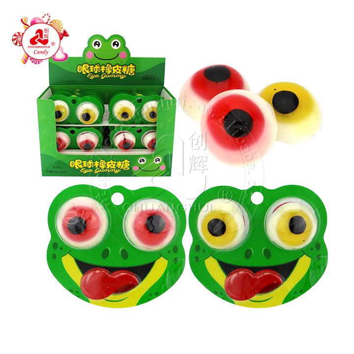 Bonbons gommeux pour les yeux de grenouille Bonbons et bonbons d'Halloween