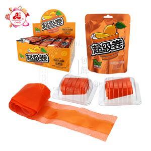 Пектин Манго, персик, яблочный вкус Желе Gummy Candy Roll Конфеты в пакете