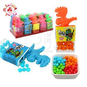 Красочная игрушка-конфета со свистком динозавра с мини-жемчужной конфетой