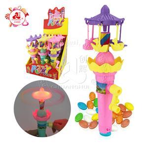Забавная игрушка ручной заводной вертолет маленькая карусель светящаяся игрушка конфета