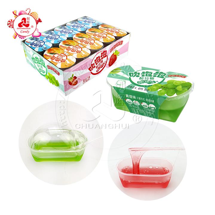 2021 bricolage jouant au sirop fruité confiture de bulles bonbons Blow Bubble Candy