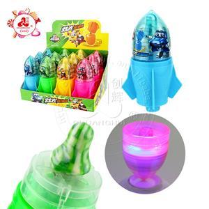 Освещение Rocket Gyro Toys с конфетами для сосков Светодиодные большие игрушки для конфет с гироскопом