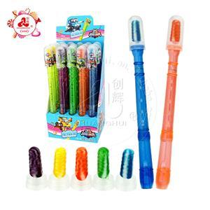 Красочная длинная игрушка музыкальных инструментов, изменяющая голос, игрушка для флейты с конфетой для сосков