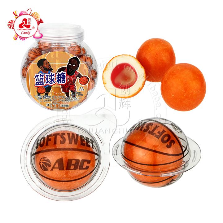 Chicle de baloncesto de moda con bola de chicle de bocadillo de mermelada de frutas
