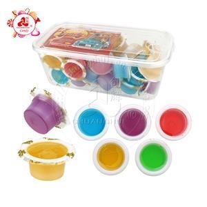 Красочные фруктовые чашки с вареньем, сироп, жидкие конфеты, чашка в коробке