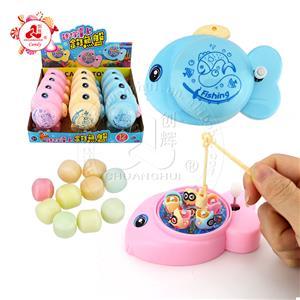 Мультяшная забавная магнитная вращающаяся рыбалка, детская развивающая игрушка-конфета