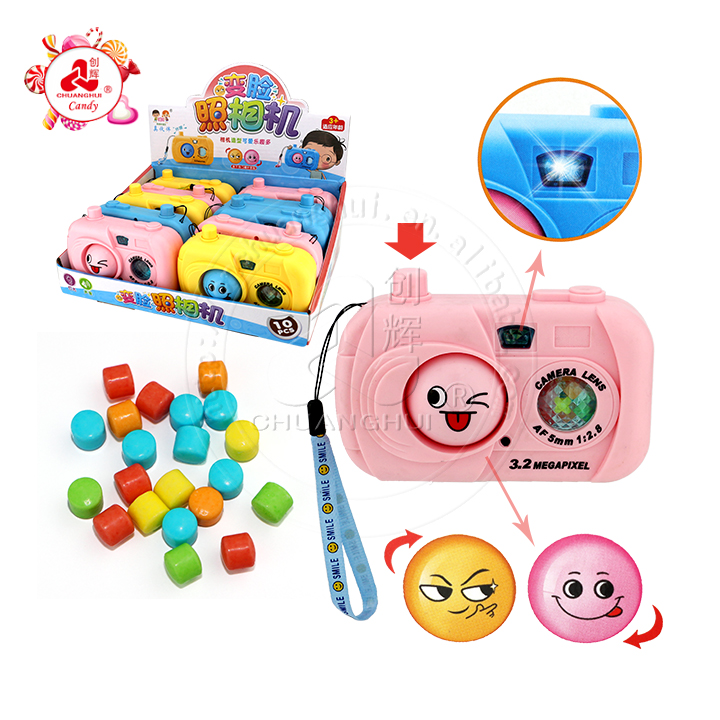 Детская светодиодная вспышка, меняющая лицо, большая камера, игрушка-конфета