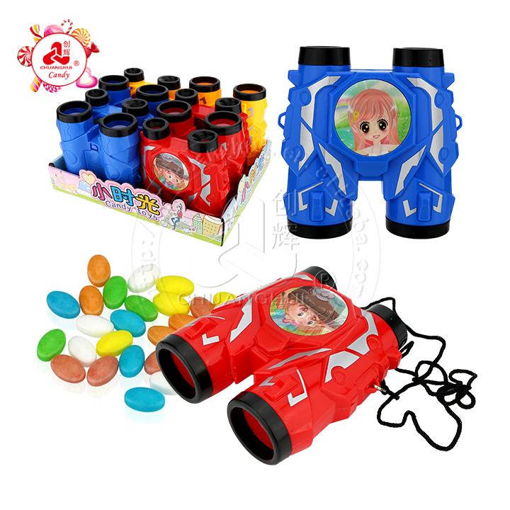 Забавная растровая картинка Флешка телескоп игрушка с прессованной конфеткой