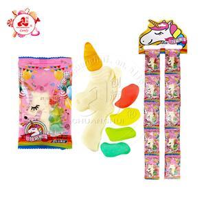 New Arrival Halal Fruit Jelly Unicorn Shape Gummy Candy